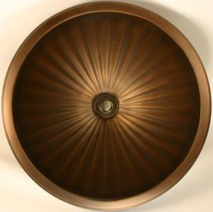 Bronze Large Round Fluted Product Image