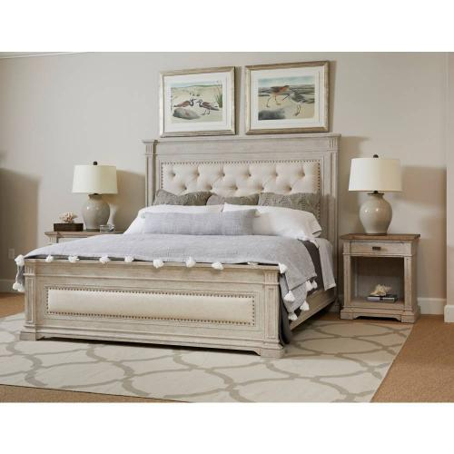 Portico Upholstered Bed - Shell / King