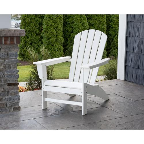 White Nautical Adirondack Chair