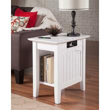 See Details - Nantucket Chair Side Table with Charger White