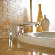 Green Tea Deck-Mount Bathtub Faucet - Stainless Steel