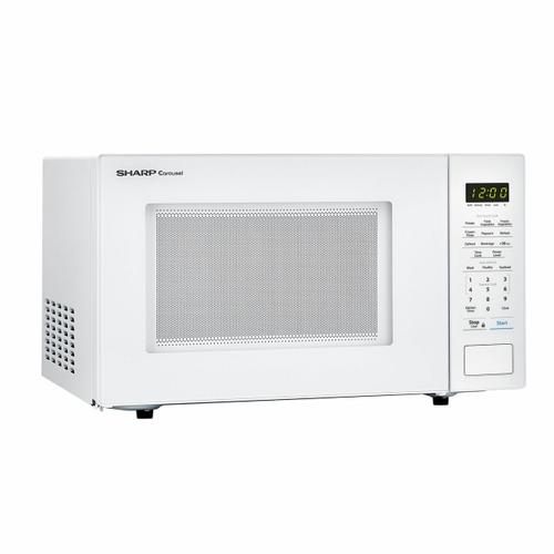 1.1 cu. ft. 1000W Sharp Countertop White Microwave