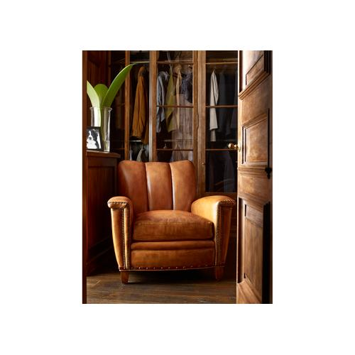 Hancock and Moore - 6121-1-C TULIP CHANNEL BACK CLUB CHAIR