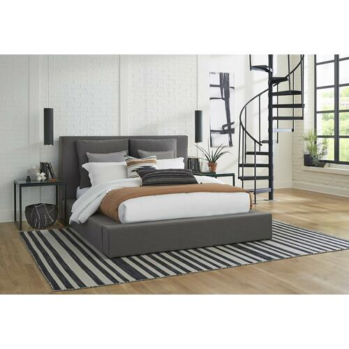HEAVENLY - FLAX CHARCOAL Queen Bed with Comfort Pillows 5/0