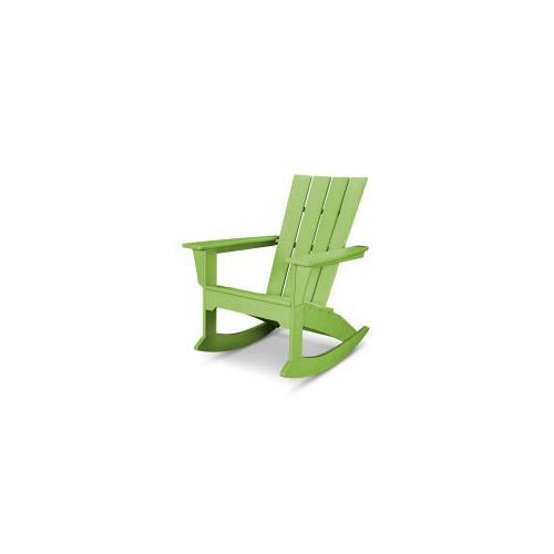 Polywood Furnishings - Quattro Adirondack Rocking Chair in Lime