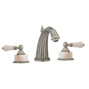 REGENT Widespread Faucet Pink Onyx K373 - Polished Nickel