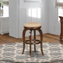 """Bedford Swivel Backless Barstool 30"""" Seat Height With Mahogany Leg And Pu Leather Mocha"""