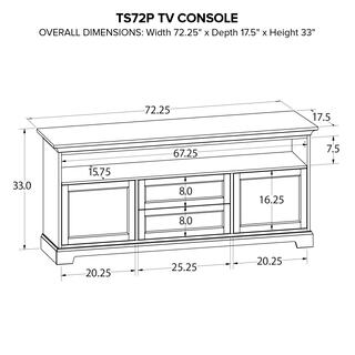 TS72P Custom TV Console