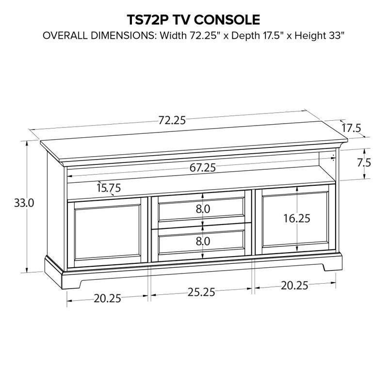 Howard Miller Custom TV Console TS72P