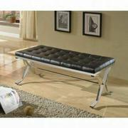 ACME Royce Bench - 96412 - Black PU & Chrome Product Image