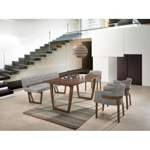 VIG Furniture - Modrest Jordan Modern Grey & Walnut Dining Bench