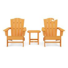 View Product - Wave Collection 3-Piece Set in Tangerine