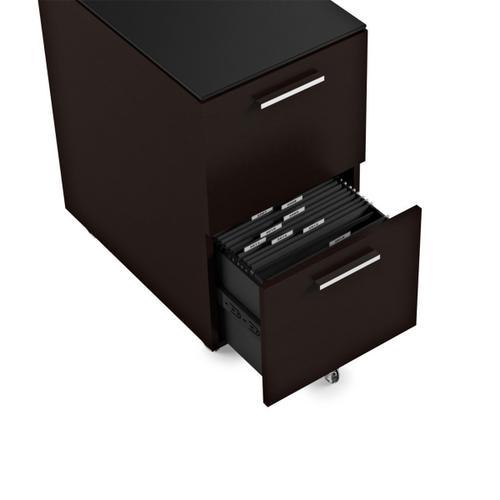 Mobile File Cabinet 6005 in Espresso