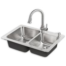 See Details - Montvale 33 x 22 Kitchen Sink with Faucet - Stainless Steel