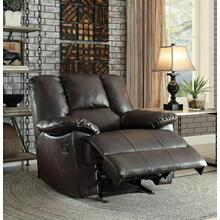 ACME Oliver Glider Recliner - 59432 - Dark Brown Leather-Aire