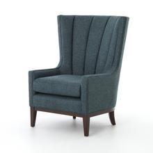 Chess Peacock Cover Channelled Wing Chair