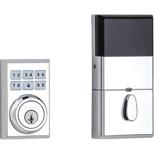 Kwikset - 910 SmartCode Contemporary Electronic Deadbolt with Z-Wave Technology - Polished Chrome