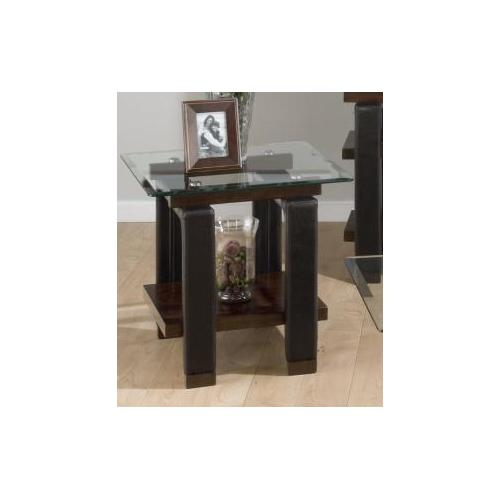 Jofran - End Table Base W/ Shelf and Faux Leather