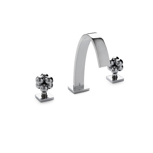 Polished Nickel Aqueduct with Molecule Knob