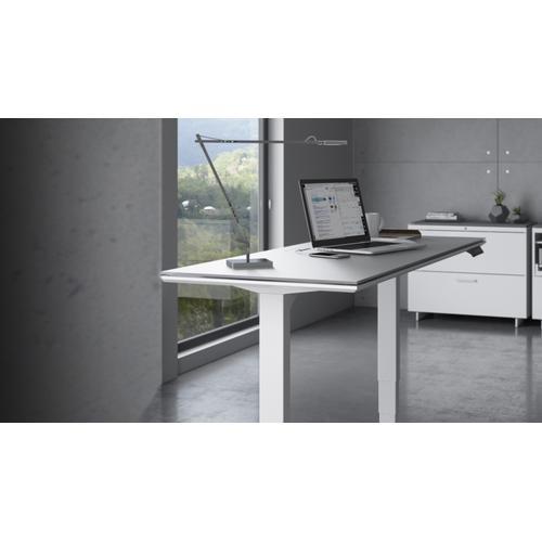 """BDI Furniture - Centro 6451-2 Standing Desk  60""""x24"""" in Satin White Gray Glass"""