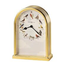 Howard Miller Songbirds of North America III Brass Table Clock 645405