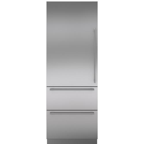 Stainless Steel Door Panel with Tubular Handle - LH