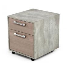 Nova Domus Boston Modern Brown Oak & Faux Concrete Office Small File Cabinet