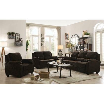 Northend Chocolate Three-piece Living Room Set