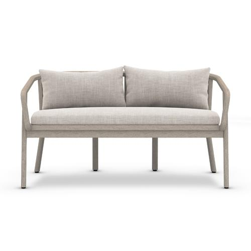 Stone Grey Cover Tate Outdoor Bench, Weathered Grey