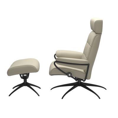 See Details - Stressless® London Star Adjustable headrest Chair with Ottoman