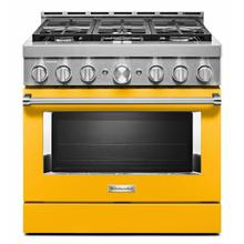 See Details - KitchenAid® 36'' Smart Commercial-Style Gas Range with 6 Burners - Yellow Pepper