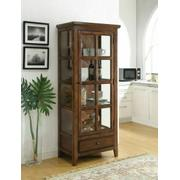 ACME Lartius Curio Cabinet - 90306 - Distress Cherry Oak Product Image
