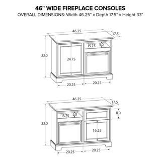 See Details - Howard Miller Fireplace Custom TV Console FP46B