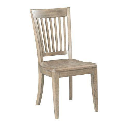 The Nook Heathered Oak Wood Seat Side Chair
