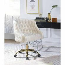 ACME Levian Office Chair - 92517 - Vintage Cream Velvet & Gold