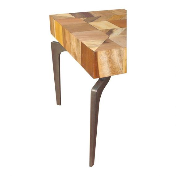 Gajel Side Table With Metal Legs
