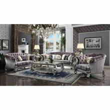 ACME Versailles Sofa w/Pillows - 56825 - Velvet & Antique Platinum