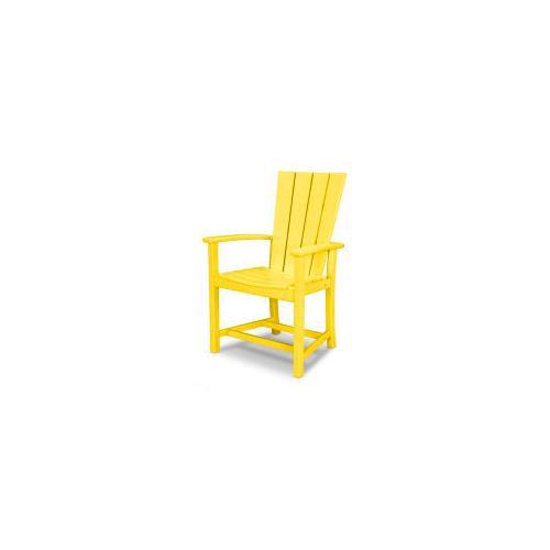 Polywood Furnishings - Quattro Adirondack Dining Chair in Lemon