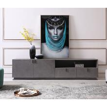 Modrest Buckley - Modern Grey Crackle TV Stand