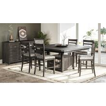 Altamonte Square Counter Height Dining Table With Four Ladderback Stools - Brushed Grey