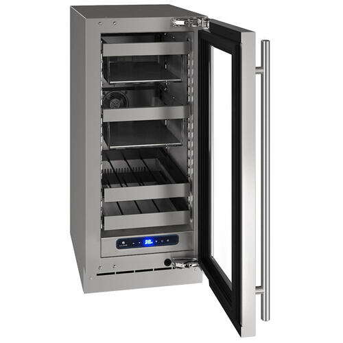 """15"""" Beverage Center With Stainless Frame Finish and Right-hand Hinge Door Swing (115 V/60 Hz Volts /60 Hz Hz)"""