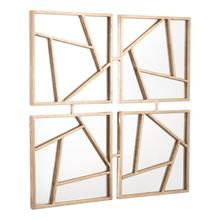 See Details - Four Faces Mirror Gold
