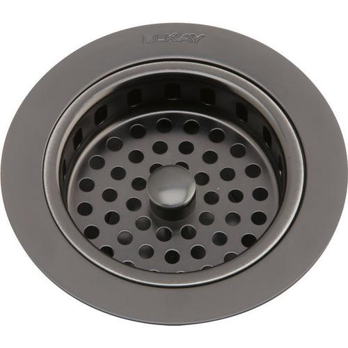 """Elkay - Elkay 3-1/2"""" Drain Fitting Antique Steel Finish Body and Basket with Rubber Stopper"""