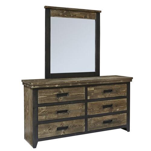 Dresser \u0026 Mirror - Honey \u0026 Black Finish