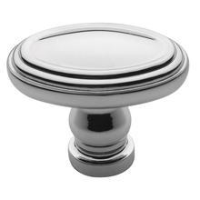 Polished Chrome Decorative Oval Knob