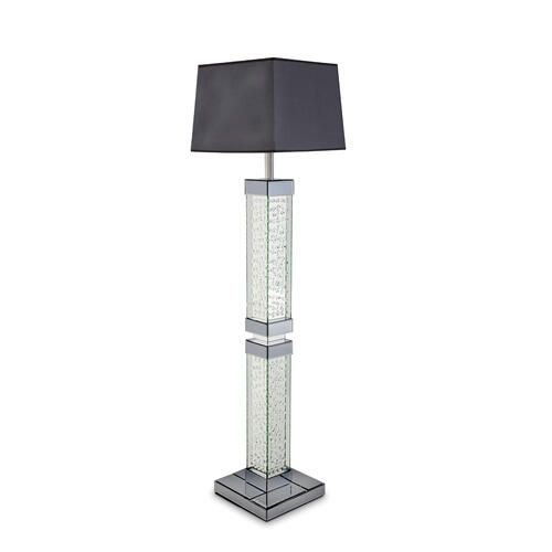 Slendrtbl Flr Lamp W/crstl Accnt&rectshade, Violet