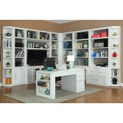 CATALINA 12 Piece Corner Library Wall with Writing Desk Product Image