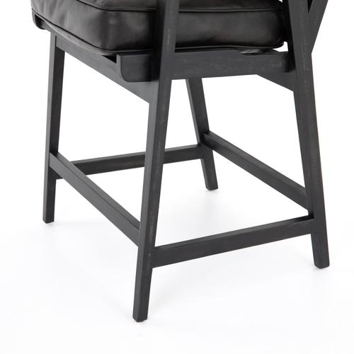 Counter Stool Size Distressed Black Cover Brooks Bar + Counter Stool