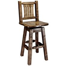 Homestead Collection Swivel Barstool, Stain and Lacquer Finish