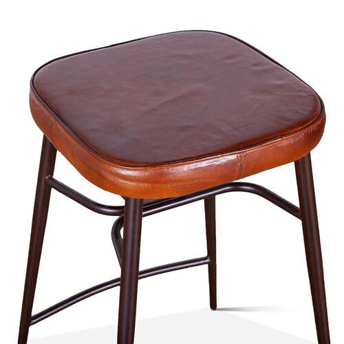 Wellington Leather Counter Stool